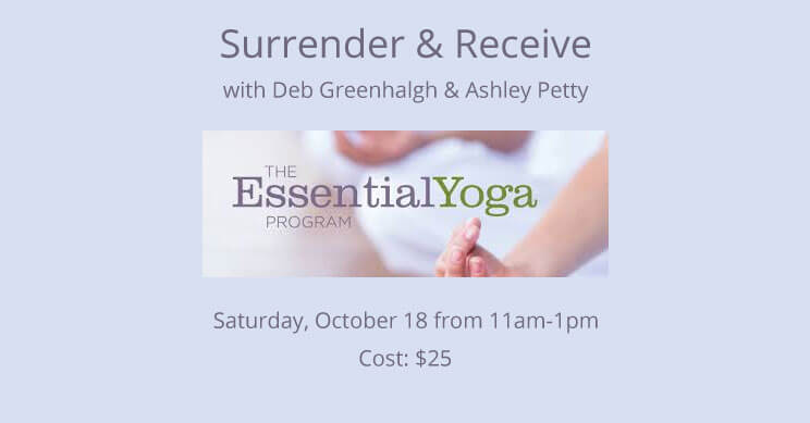 surrender-and-receive workshop at namaste yoga irmo