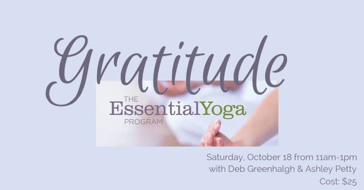 Gratitude Workshop with Essential Oils