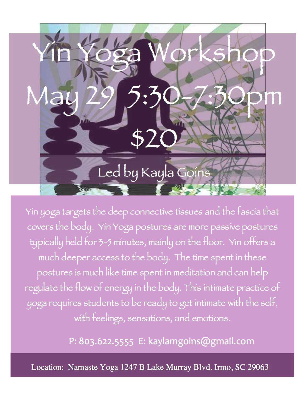 Yin Yoga Flyer May 2015 Website