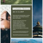January retreat with Namaste' Yoga in the North Carolina mountains